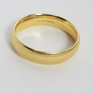 Ak 18k Turkey Gold wedding band ring size 10